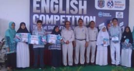 Hujan Juara di English Competition 2019 Tingkat SMP se-Kota Bontang